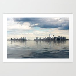 Dramatic widescreen panorama of NYC Art Print