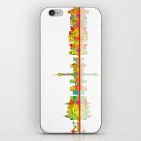las vegas iPhone & iPod Skins featuring Las Vegas by Marlene Watson