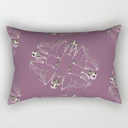 Bat Skeleton Mandala Rectangular Pillow