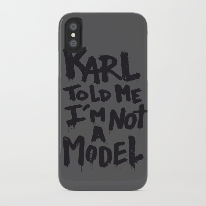 Karl told me... iPhone Case