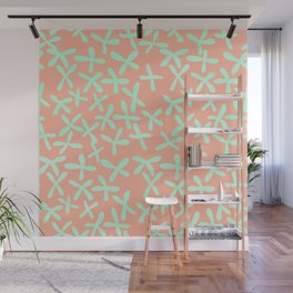 Sweet Life Firefly Peach Coral + Mint Meringue Wall Mural
