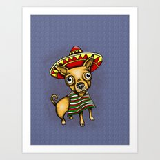 Mexican Chihuahua in Brown Art Print
