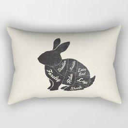 Rabbit Butcher Diagram Rectangular Pillow