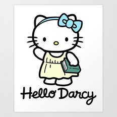 Hello Darcy Art Print