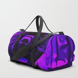 french bulldog basketball vector art purple Duffle Bag