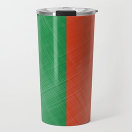 Retro Bicolore Pattern Travel Mug