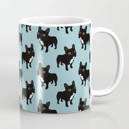 Brindle Frenchie likes to go for a walk to meet some friends Coffee Mug