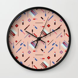 Lipstick on my lips Wall Clock