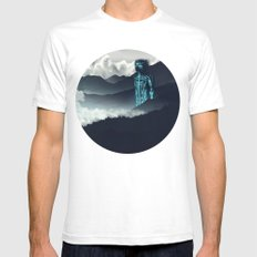 Titan SMALL White Mens Fitted Tee