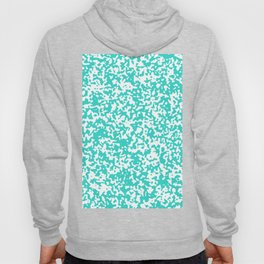 Small Spots - White and Turquoise Hoody