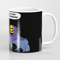 skeletor Mugs featuring Vader Skeletor I Find your lack of face disturbing  by Jane Hazlewood