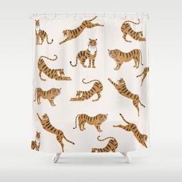 Tiger Print Shower Curtain