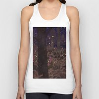 fireflies Tank Tops featuring fireflies by Lara Paulussen