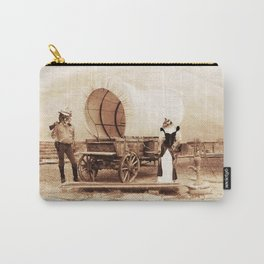 Old West Cowboy Cat and his Gal Carry-All Pouch