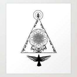 Healing Magick II (rising) Art Print