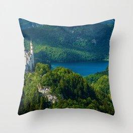 Neuschwanstein Castle - Allgau - Bavaria, Germany Throw Pillow