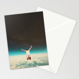 Falling with a hidden smile Stationery Cards