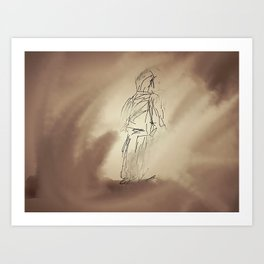 Storm in the sand Art Print