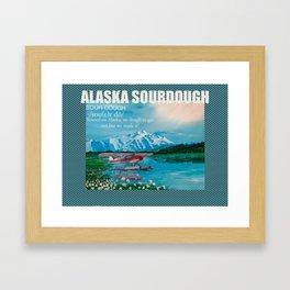 Sourdough of Alaska! Framed Art Print