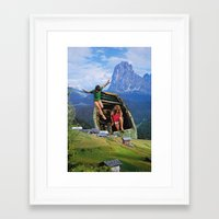 kids Framed Art Prints featuring Kids by John Turck