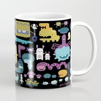 monsters Mugs featuring MONSTERS by Piktorama