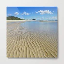 Low Tide Ripples at North Point Metal Print