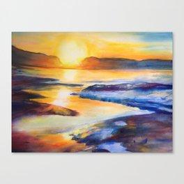 Melting Sun Canvas Print