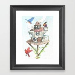 Steampunk Robin Framed Art Print