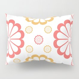 Minimal Abstract Lucite green, Coral, Grey, Honey, and White 09 Pillow Sham