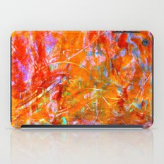 Abstract with Circle in Gold, Red, and Blue iPad Case