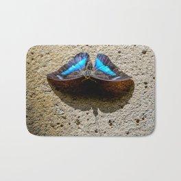 Blue Morpho Butterfly by Teresa Thompson Bath Mat