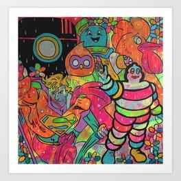 Poker face by Barrie J Davies 2015 Art Print