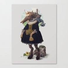 Country-girl, City-life Canvas Print