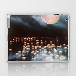 Fantasy lake with moonlight Laptop & iPad Skin