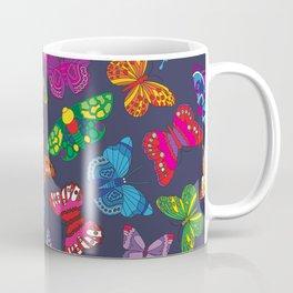 Butterflies Denim Coffee Mug