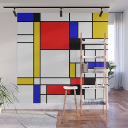 Bauhouse Composition Mondrian Style Wall Mural