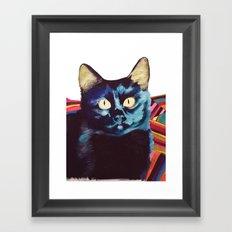 Buffy the Cat Framed Art Print