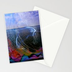 Smoke on the water II Dolphin  Stationery Cards