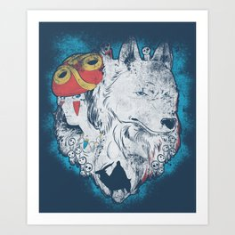 The princess and the wolf Art Print