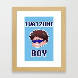 Iwaizumi Boy Framed Art Print