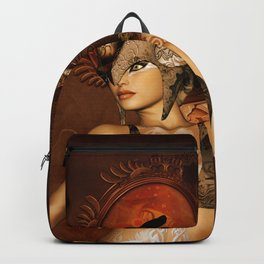 Beautiful steampunk women Backpack