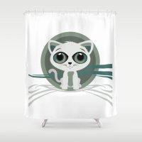 kitten Shower Curtains featuring Kitten by Adamzworld