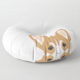 Welsh corgi peeking head corgis dog breed cute pet gifts Floor Pillow