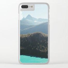 Brilliant Blue Diablo Lake II Clear iPhone Case