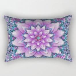 Embroidered purple & green Rectangular Pillow
