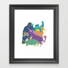 Band of Beasts Framed Art Print