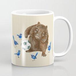 Blue wrens Wombat Football Coffee Mug