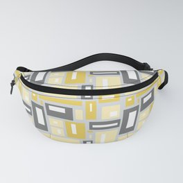 Simple Geometric Pattern in Yellow and Gray Fanny Pack