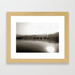 Gulets In Greyscale Framed Art Print