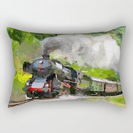 Oltimer Train on Transalpine Railway Rectangular Pillow